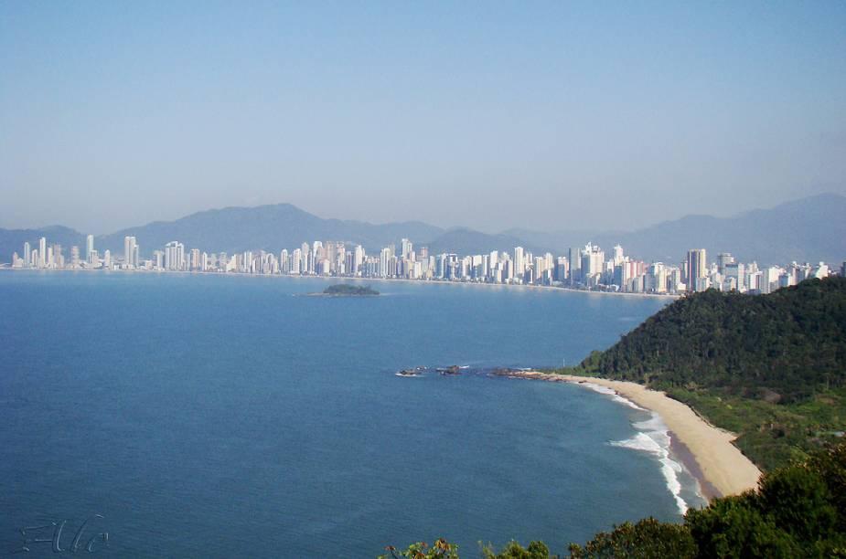 Vista da orla de Balneário Camboriú