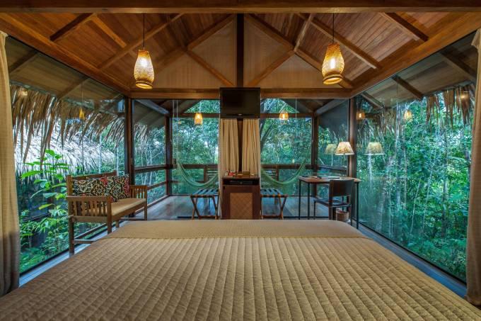 Hospedagem de selva Anavilhanas Jungle Lodge, na Amazônia