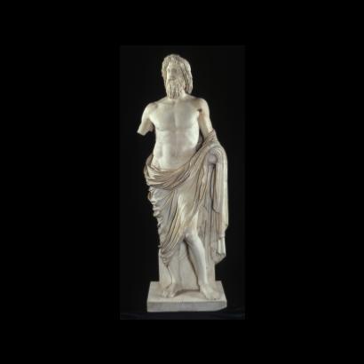 Estátua de Júpiter, destaque da mostra Roma – A Vida e os Imperadores, em exibição no Masp - Museu de Arte de São Paulo