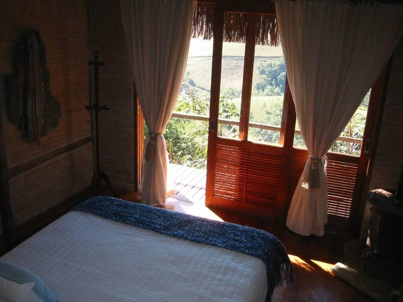 Cabana da pousada Chapéu de Palha, entre as mais charmosas do distrito