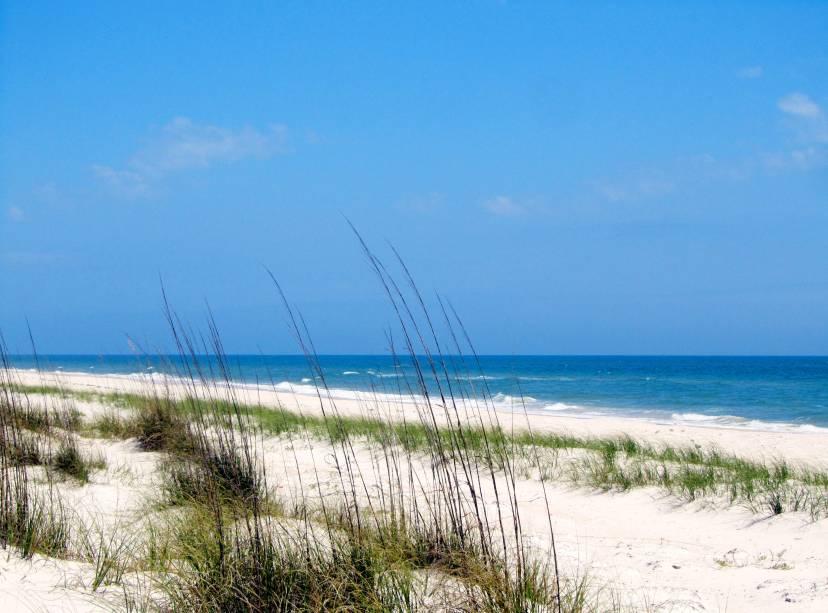 <strong>3. St. George Island State Park, Flórida</strong>As praias da Flórida são conhecidas por sua areia super branquinha. Não é diferente em St. George Island State Park, onde andando um pouco você encontra dunas