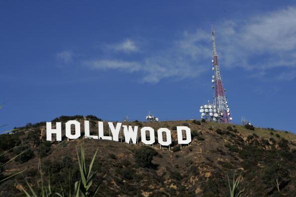 Famoso letreiro em Hollywood, na cidade de Los Angeles