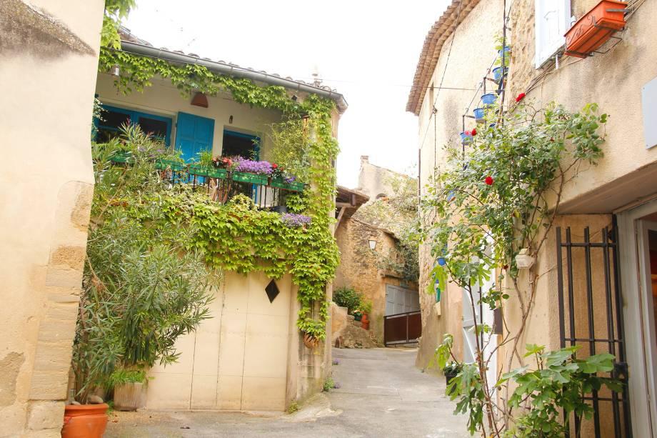 As ruas de Lourmarin são as responsáveis por deixar os viajantes encantados. Os terraços e galerias cobertos por heras e enfeitados com flores de todos os tipos dão o tom único