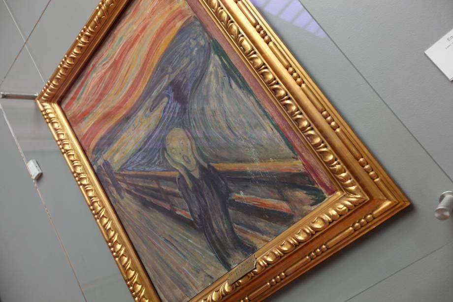 """<a href=""""http://nasjonalmuseet.no/en/visit/locations/the_national_gallery/"""" rel=""""National Gallery"""" target=""""_blank""""><strong>National Gallery</strong></a>Além do acervo de picassos e impressionistas, o museu é famoso pelo quadro <em>O Grito,</em> um dos maiores ícones culturais surgidos de uma pintura. A tela é uma das quatro versões da criação de Edvard Munch – duas estão no Munch Museum <em>(leia a seguir),</em>também em Oslo, e a outra em uma coleção particular, arrematada, em 2012, por US$ 119,9 milhões, na época o valor recorde alcançado por uma pintura em toda a história.<em> (NOK 100, cerca de US$ 11,60)</em>"""