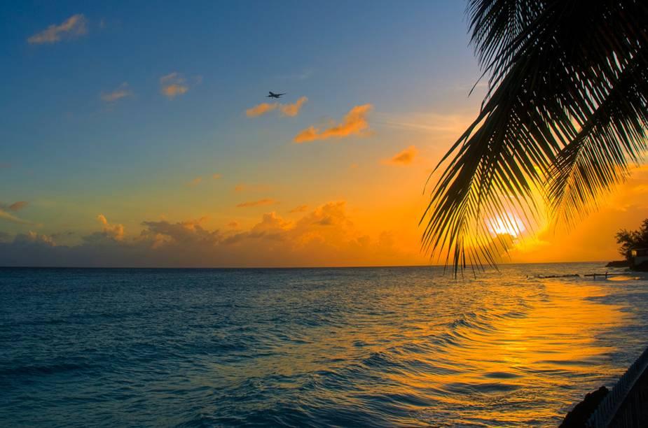 Pôr do sol na ilha