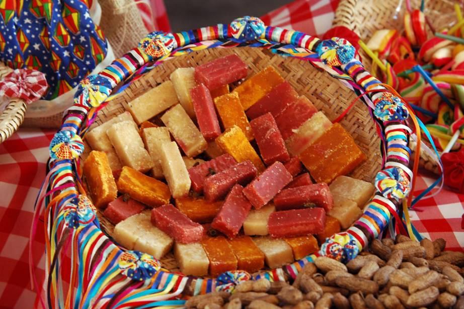 Doces vendidos na tradicional festa junina de Campina Grande, na Paraíba