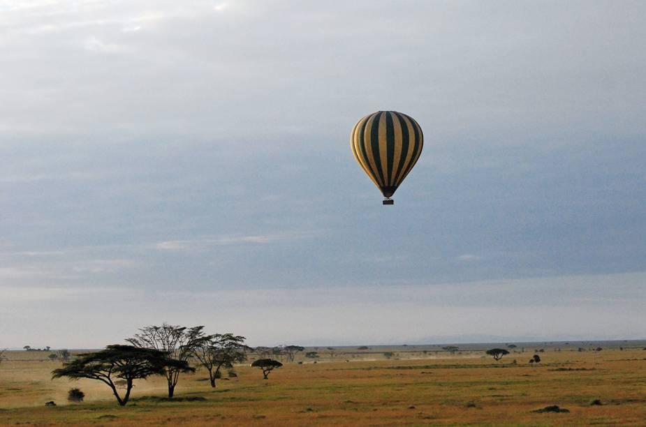 """Rebanhos e manadas de zebras, girafas, leões, hipopótamos, elefantes, entre outros habitantes da <a href=""""http://viagemeturismo.abril.com.br/paises/tanzania/"""">Tanzânia</a>, são só uma prévia da paisagem vista de cima de um balão no <a href=""""http://viagemeturismo.abril.com.br/atracao/parque-nacional-do-serengeti/"""">Parque Nacional do Serengeti</a>, em <a href=""""http://viagemeturismo.abril.com.br/cidades/arusha/"""">Arusha</a>. A flora da savana africana completa a obra. E não pense que os elefantes avistados são """"pontinhos cinza"""". Nada disso! Épossível observá-los a uma curta distância e ficar atento para – quem sabe - não esbarrar na cabeça de uma girafa (ok, nem tanto)."""