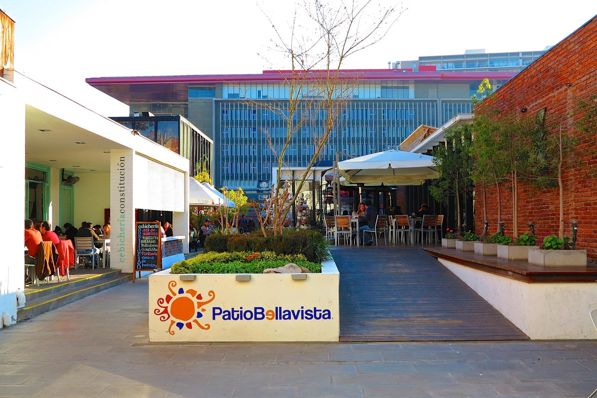 Patio Bellavista, em Santiago, Chile