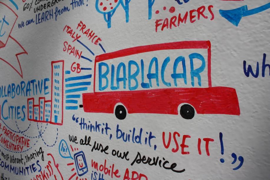 """Criado em 2006 na França, é um mediador de caronas rodoviárias pagas, combinadas previamente entre motoristas e caroneiros pelo app ou pelo<a href=""""http://bit.ly/_blabla"""">site</a>da BlaBlaCar. Tem 25 milhões de usuários em 22 países."""