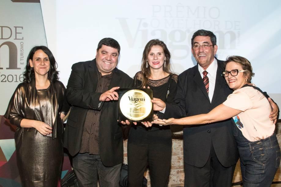 Quem venceu o prêmio de melhor destino de ecoturismo foi a cidade de Bonito (MS). A diretora de redação da Viagem e Turismo, Angélica Santa Cruz entregou o prêmio ao vice-prefeitoJosmail Rodrigues, à secretária de Turismo, Indústria e Comércio,Juliane Ferreira Salvadori, e ao presidente da Fundação de Turismo do Estado do Mato Grosso do Sul,Nelson Cintra