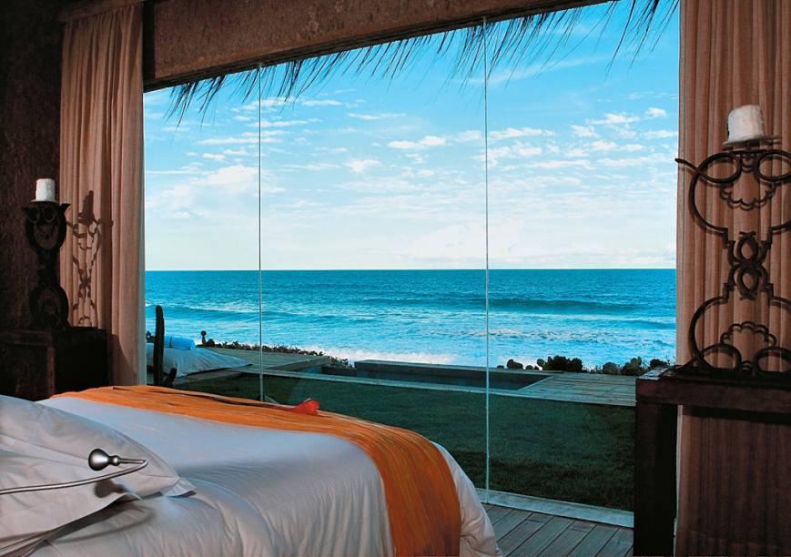Suíte com vista para o mar do Kenoa Resort, que ganhou prêmio de Novidade do Ano do Guia Quatro Rodas 2011