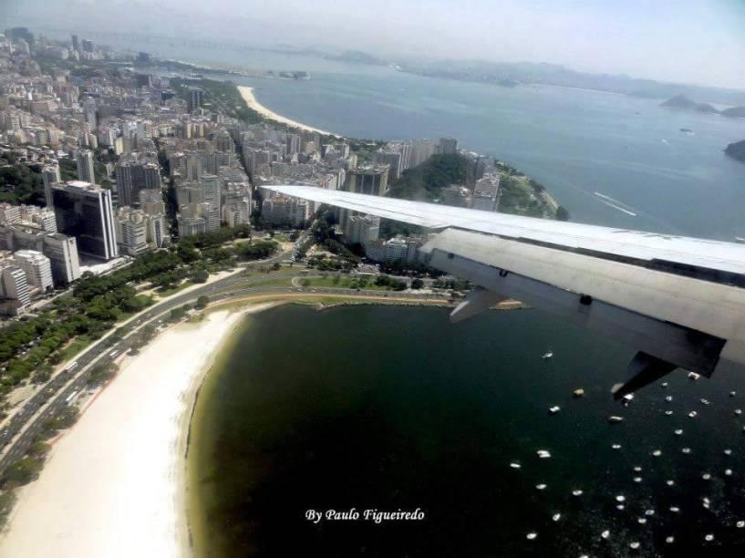 O internauta Paulo Figueiredo fotografou a Cidade Maravilhosa a bordo de uma aeronave