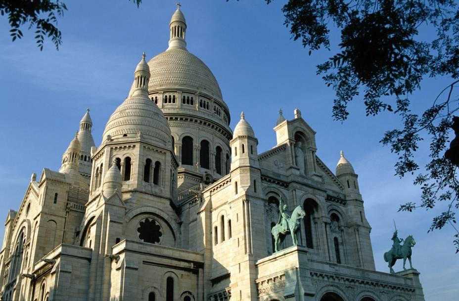 A Basilique du Sacré-Coeur, em Montmartre, em Paris