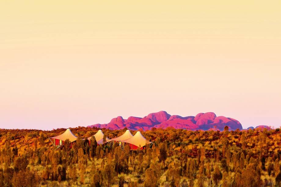 O Longitude 131 é o suprassumo do glamping, com vista espetacular para a Pedra Uluru