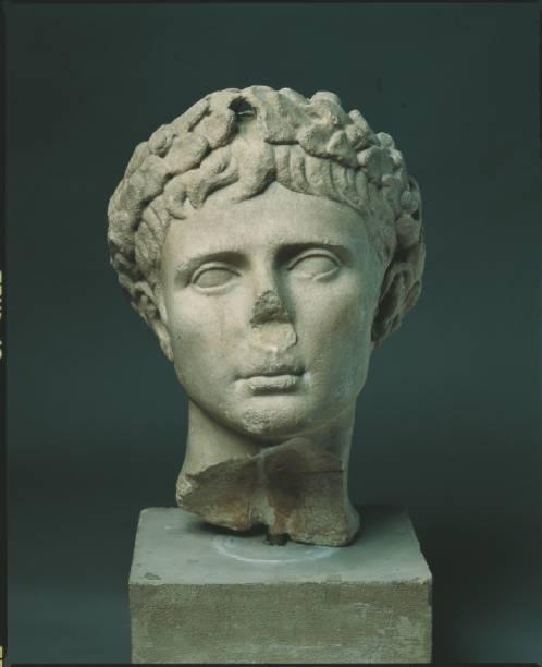 Retrato de Augusto trazido do Museu Arqueológico Nacional de Florença, na Itália, para a mostraRoma – A Vida e os Imperadores, no Masp - Museu de Arte de São Paulo