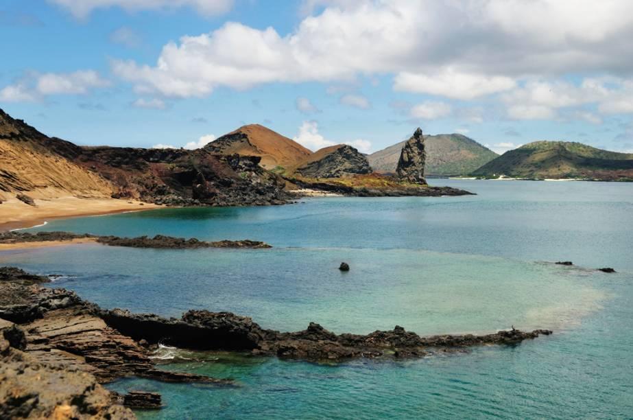 Formado por 58 ilhas vulcâncias, o arquipélago de Galápagos, no Equador, é conhecido por suas espécies animais, como a tartaruga-gigante e o iguana-marinho. O local inspirou o cientista Charles Darwin a fundamentar, no século XIX, sua teoria da evolução