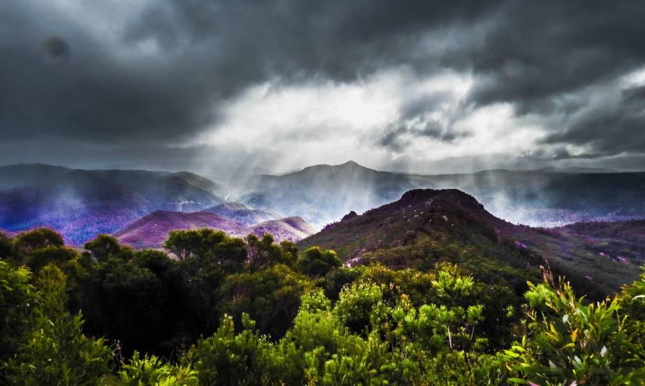 Uma visão mágica da Tasmânia, a Terra Prometida