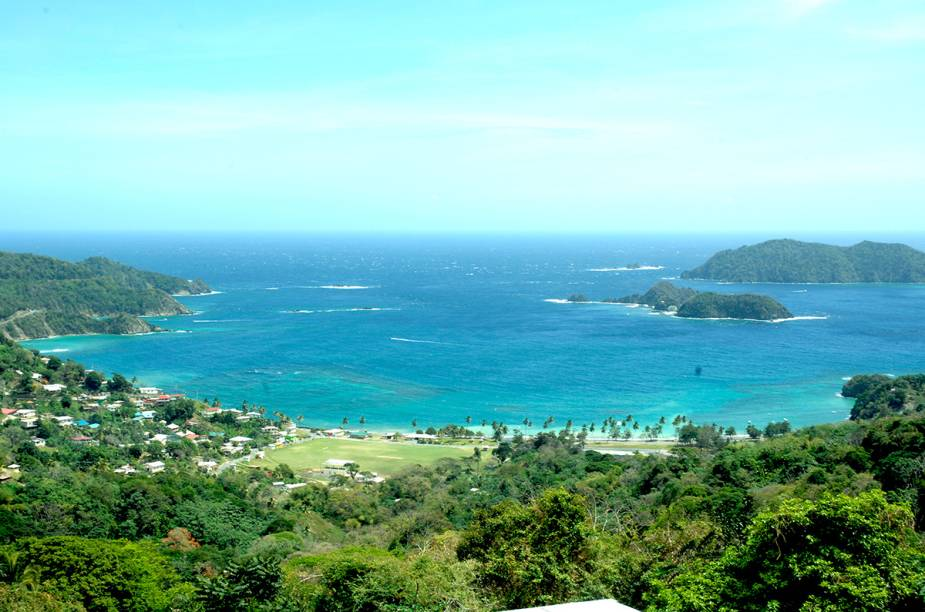 Vista da cidade de Speyside, em Tobago, a 26 km de Scarborough.