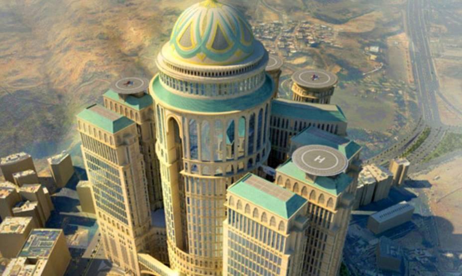 <strong>Abraj-Kudai Hotel, Meca, Arábia Saudita</strong>Com dez mil quartos, doze torres e setenta restaurantes, o hotel promete ser o maior do mundo. Sua inauguração está prevista para 2017