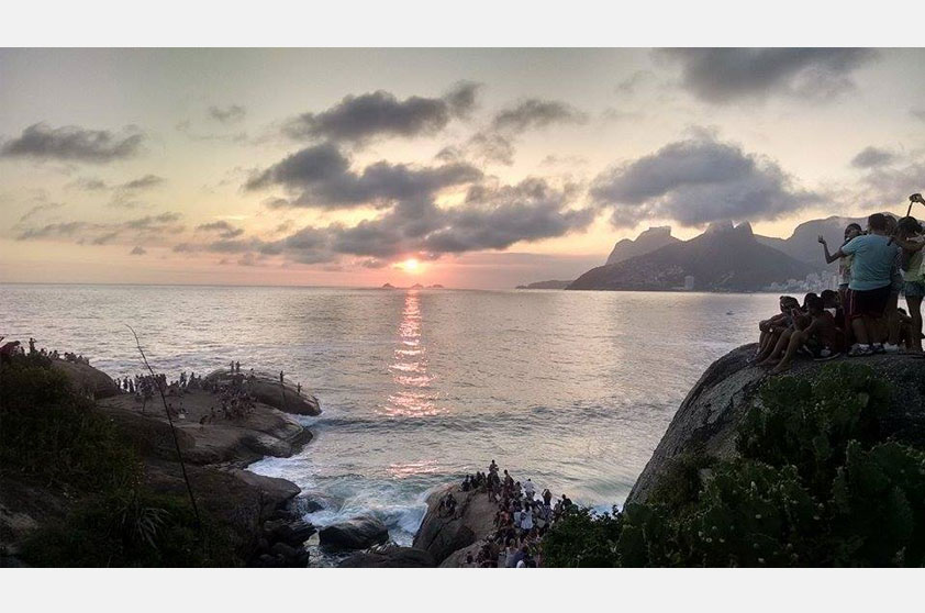 O pôr do sol deslumbrante do Arpoador rendeu a foto de Eliezer Batista de Almeida