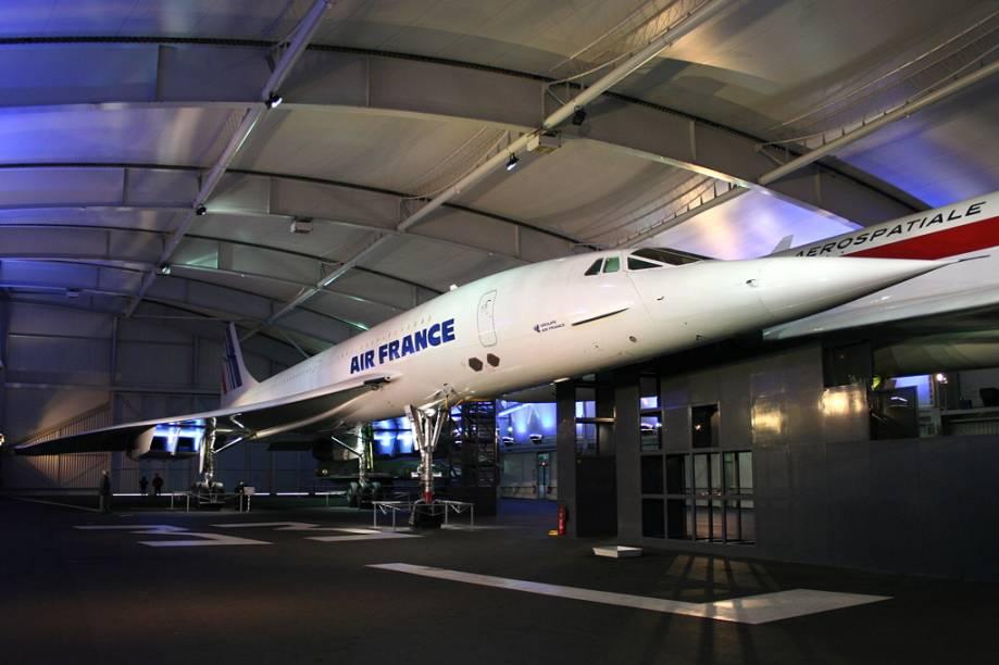 Concorde da Air France, no Museu do Ar e do Espaço, em Le Bourget