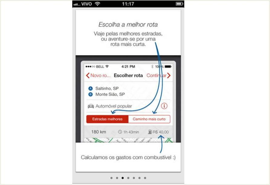 O app Guia Quatro Rodas Rodoviário é gratuito