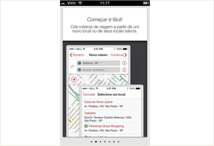 O app Guia Quatro Rodas Roviário está disponível em iOS e Android