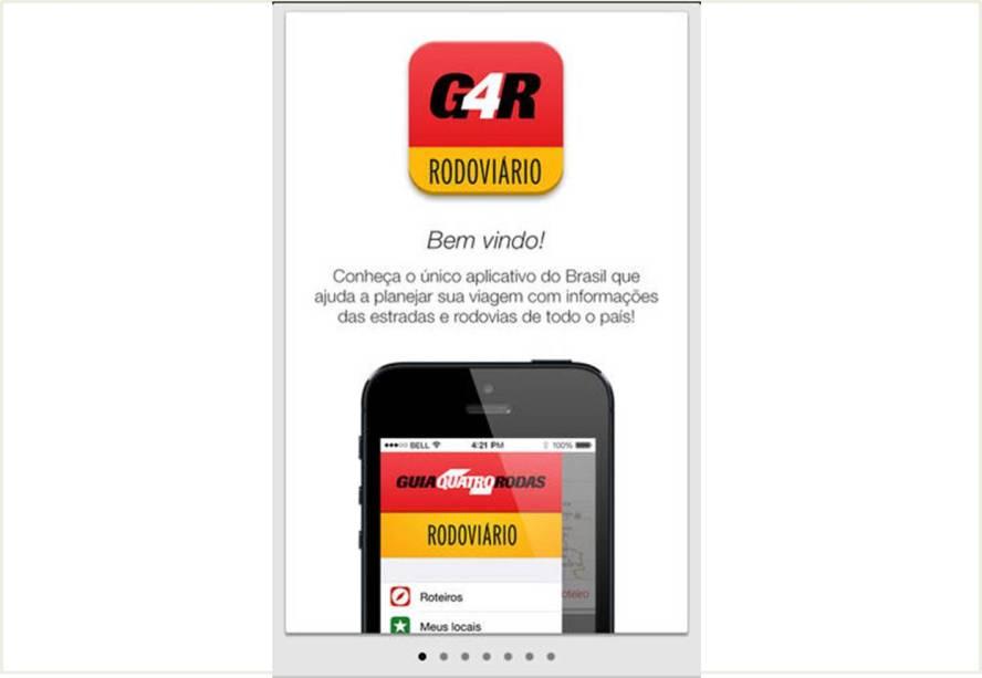 O aplicativo Guia Quatro Rodas Rodoviário pode ser utilizado off-line, sem acesso à internet