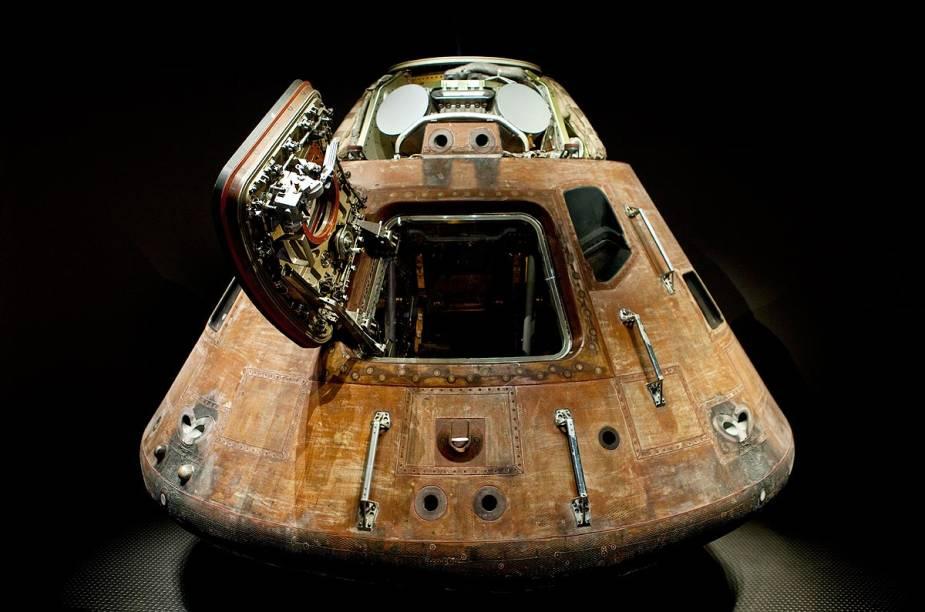 A cápsula do Apollo 13, que trouxe de volta à Terra os astronautas que conseguiram pisar na Lua em 20 de julho de 1969