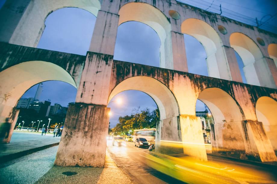 <strong>Rio de Janeiro — Arcos da Lapa</strong>O aqueduto no centro da cidade do Rio de Janeiro é a novidade do <em>Greening</em> de 2016
