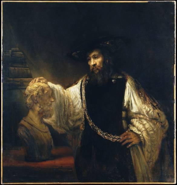 Aristóteles com Buston de Homero (detalhe), de Rembrandt van Rijn, Metropolitan Museum of Art Nova York