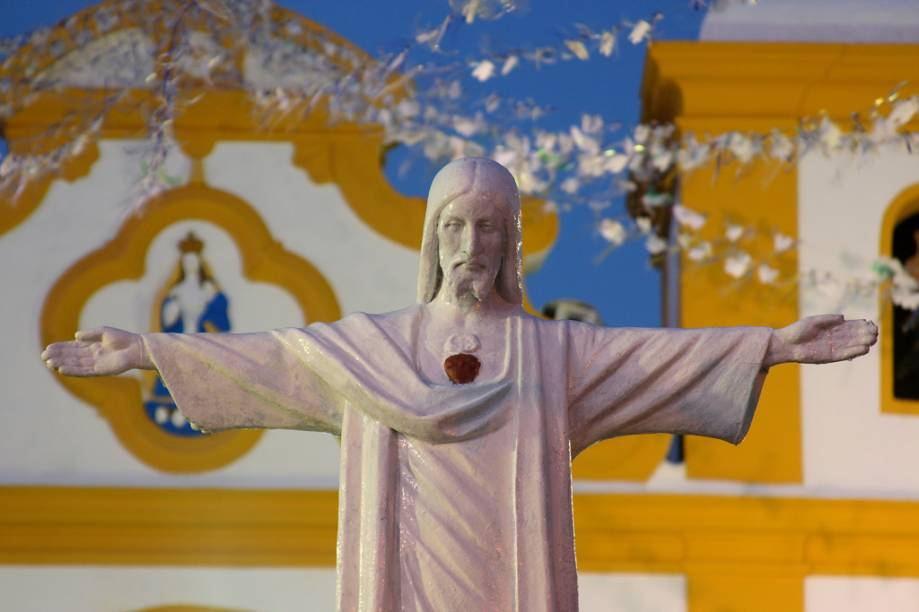 Igreja de Nossa Senhora d`Ajuda, no centro de Arraial dAjuda
