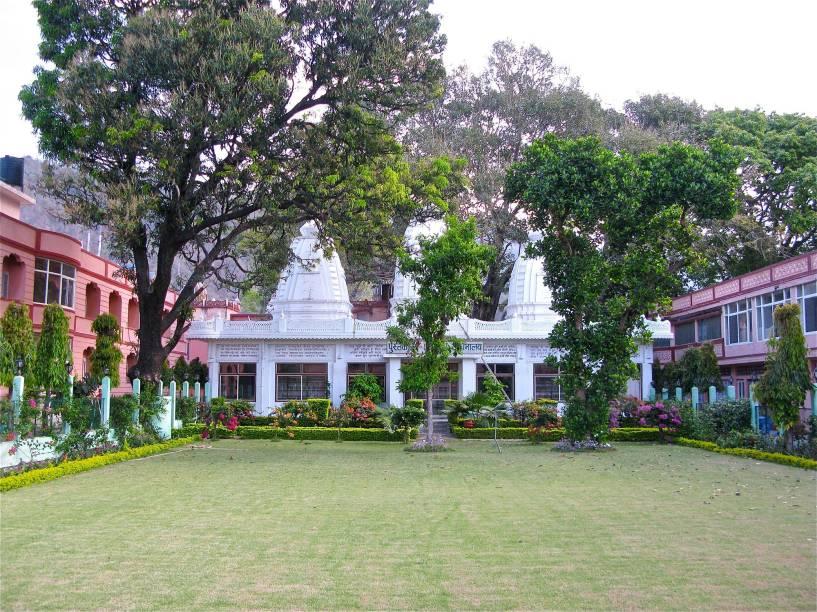 Jardim do Parmath Niketan, o ashram mais pop da Índia