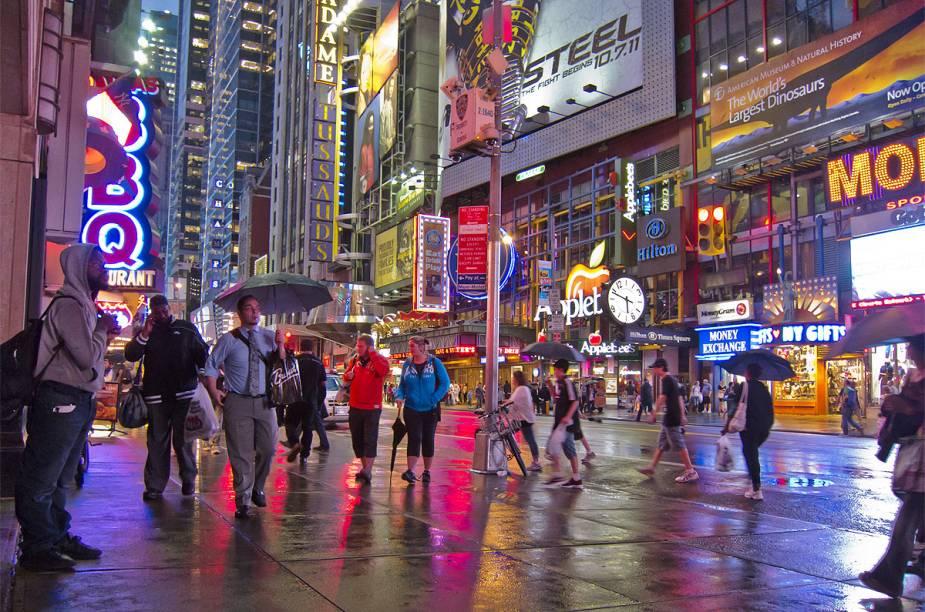 A Times Square é o cenário mais icônico do Réveillon nos Estados Unidos