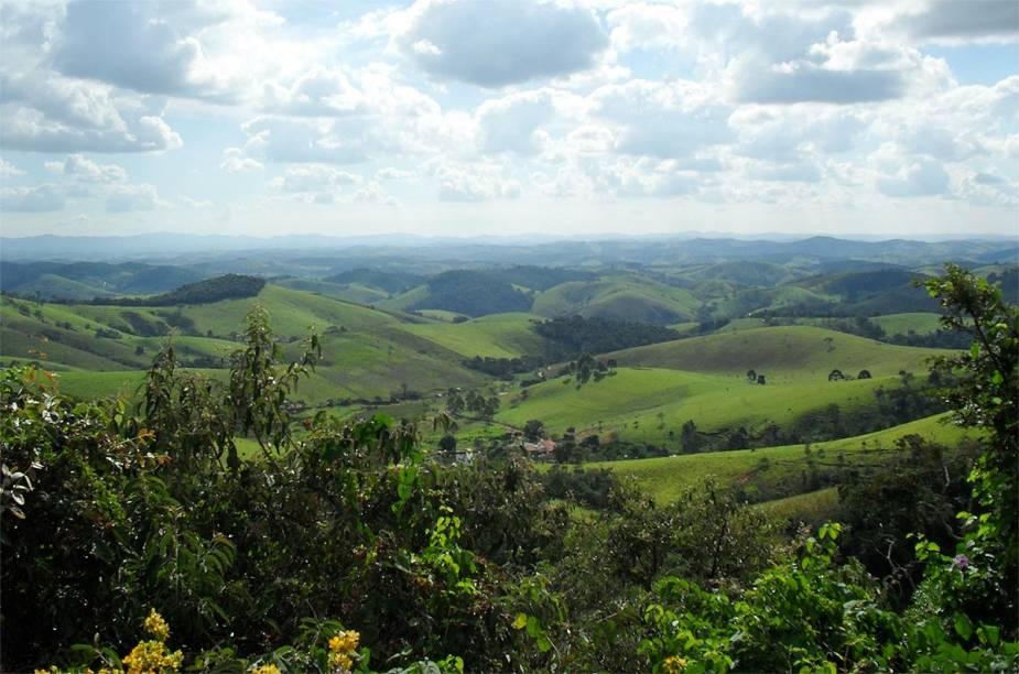 A Serra da Bocaina proporciona belas paisagens em toda a zona rural de Cunha