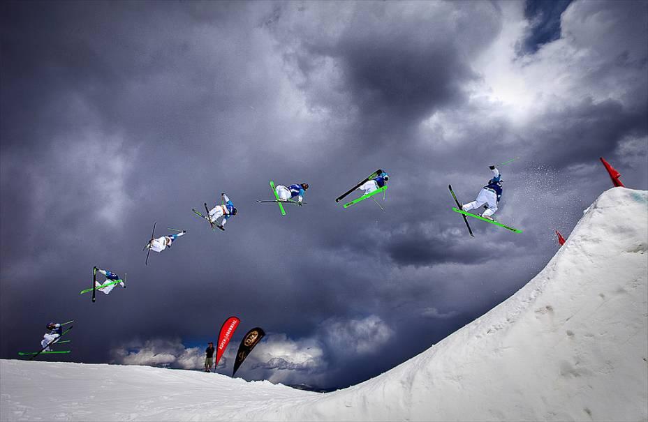 Esquiador em Aspen-Snowmass