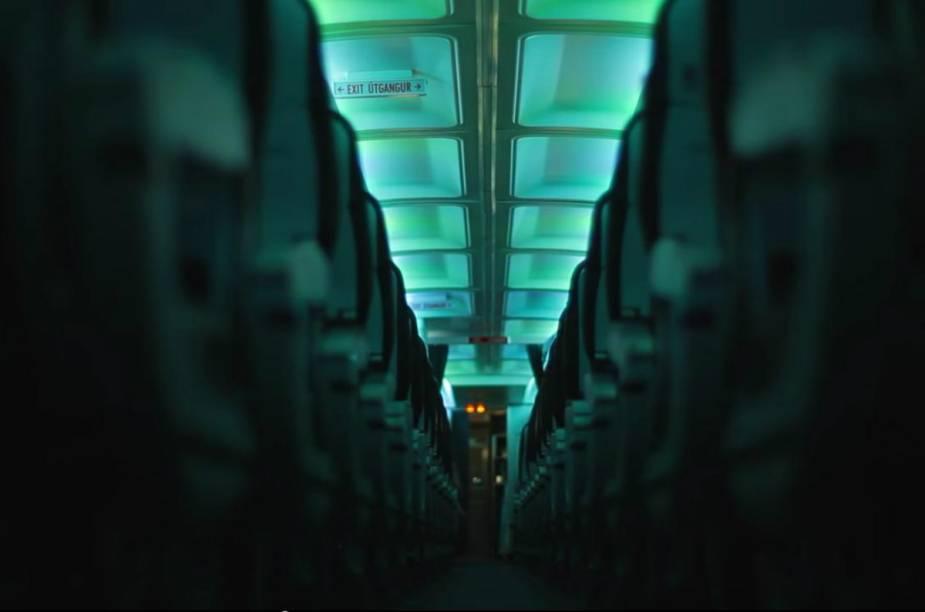 Interior da cabine do Hekla Aurora
