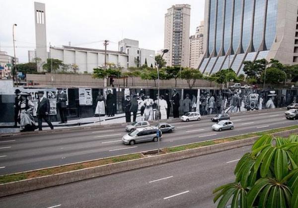 Mural da Avenida 23 de Maio, sob o viaduto Tutóia, Ibirapuera