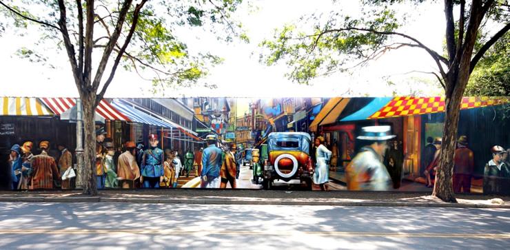 Mural na Avenida Morumbi, 6700, próximo à Ponte do Morumbi