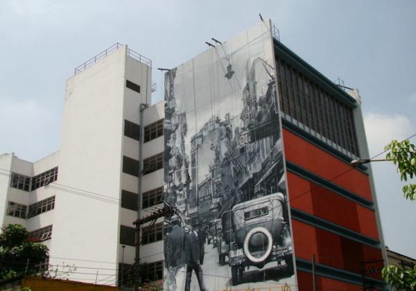 Fachada de edifício na Avenida Tiradentes 822, Bom Retiro
