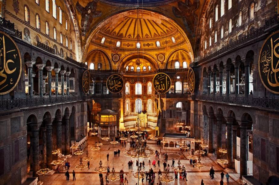 Interior da Aya Sofya, marco bizantino