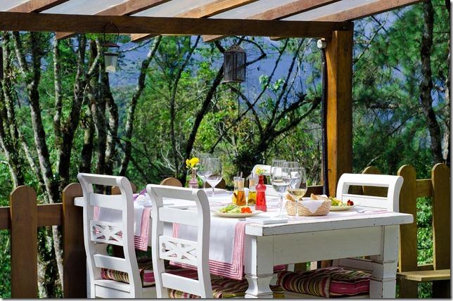 Ambiente do restaurante Babel, em Visconde de Mauá, Rio de Janeiro