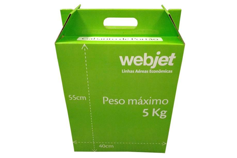 Segundo as especificações da companhia, as bagagens de mão devem ter até 5 quilos e até 55 centímetros