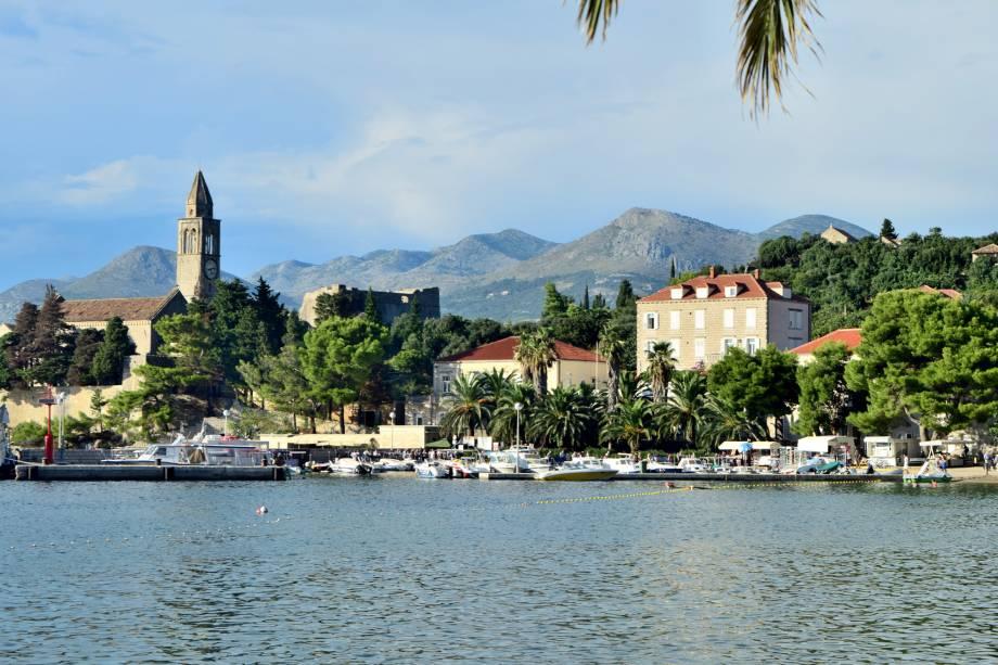 A ilha de Lopud é facilmente acessada a partir do porto de Dubrovnik