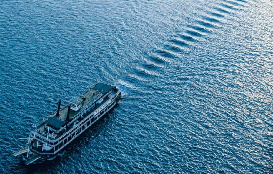Barco a vapor no Mississippi