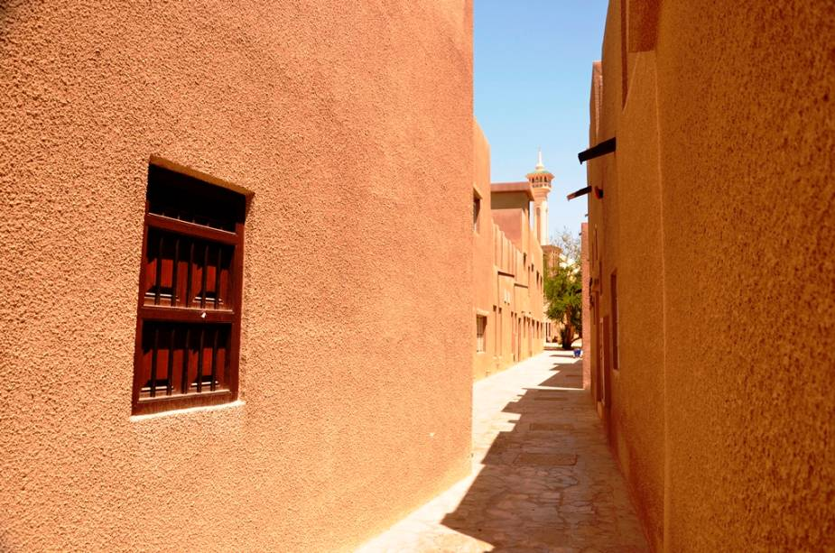 Ruelas do bairro de Bastakiya, em Bur Dubai