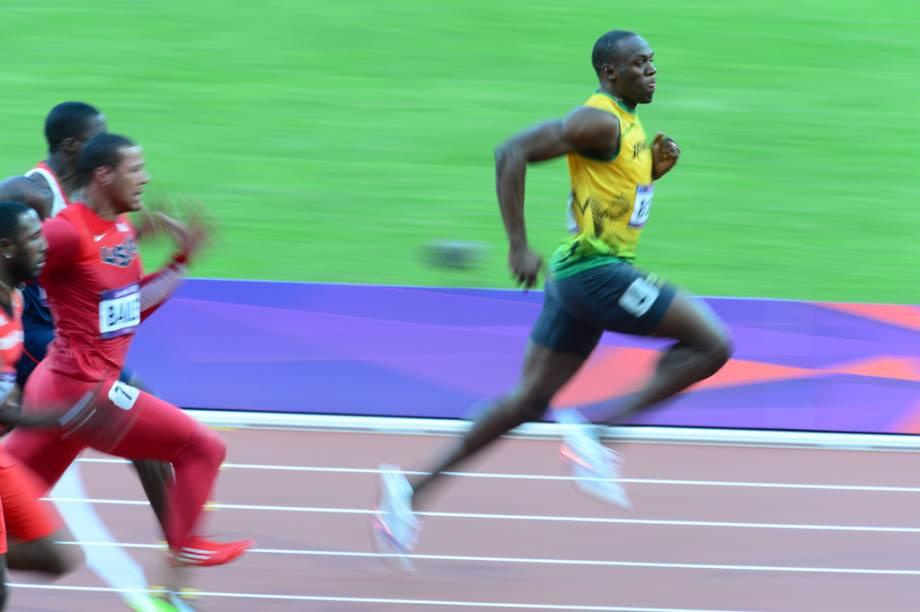 Velocista jamaicano Usain Bolt, campeão olímpico e recordista mundial dos 100m e 200m rasos