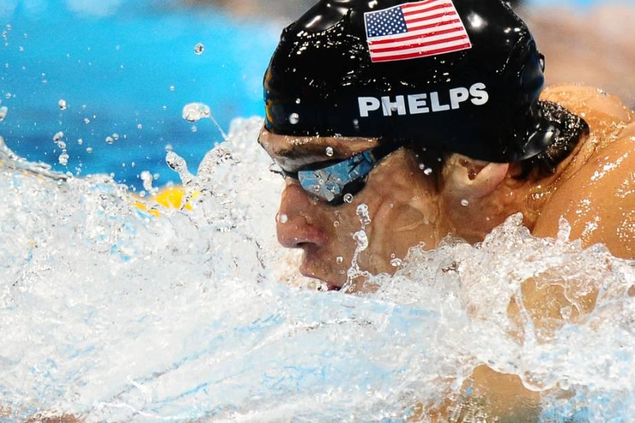 Nadador americano Michael Phelps, o maior medalhista da história das Olimpíadas