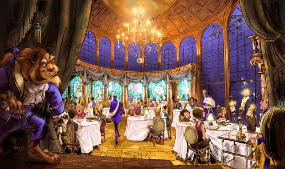 O novo restaurante do Magic Kingdom, o <strong>Be Our Guest</strong>, será a réplica do castelo da Fera