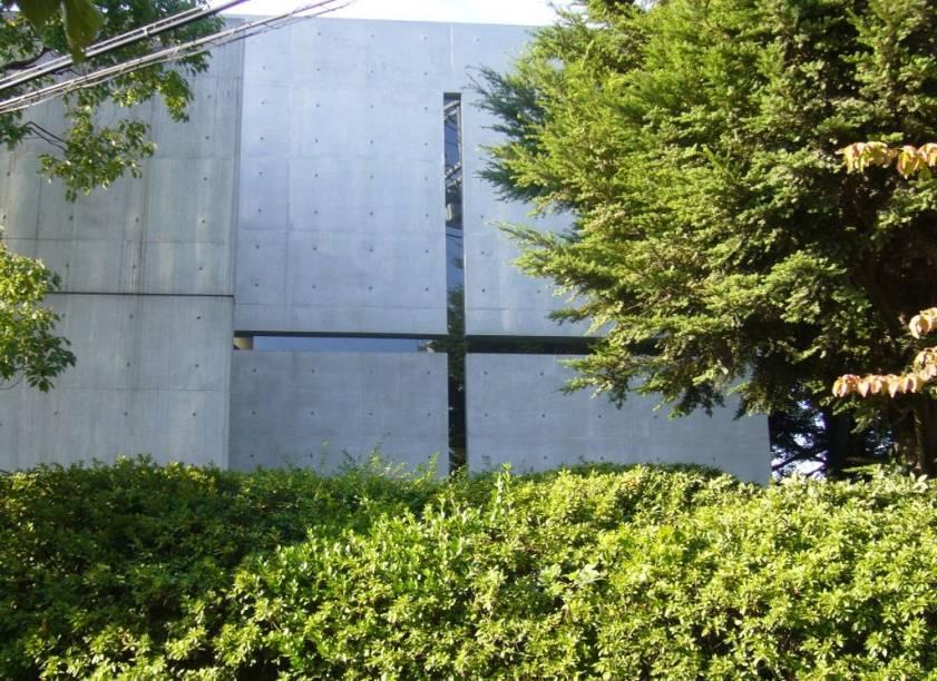 Exterior da Igreja da Luz, projetada por Tadao Ando